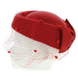 Chapeau rouge lucifer de soirée prestige