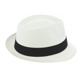 Trilby Corsica Hat Panama Hat White - Traclet