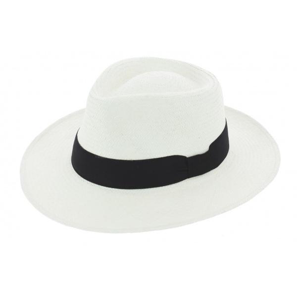 Chapeau Traveller Bords Plats Donato Panama Blanc - Traclet