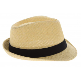 Trilby Groove Straw Straw Natural Paper Hat - Traclet