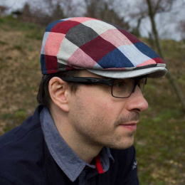 Scottman Linen & Cotton Flat Cap - Traclet
