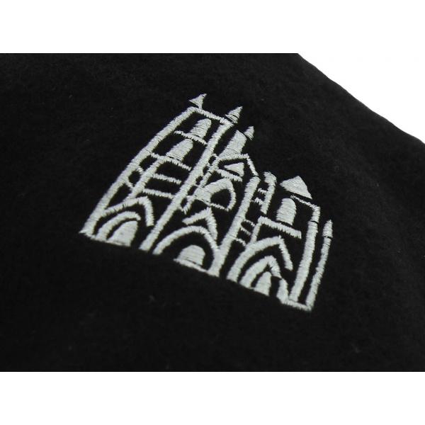 Béret Broderie Notre Dame Laine Noir - Traclet