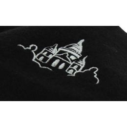 Béret Broderie Sacré-Cœur Laine Noir - Traclet
