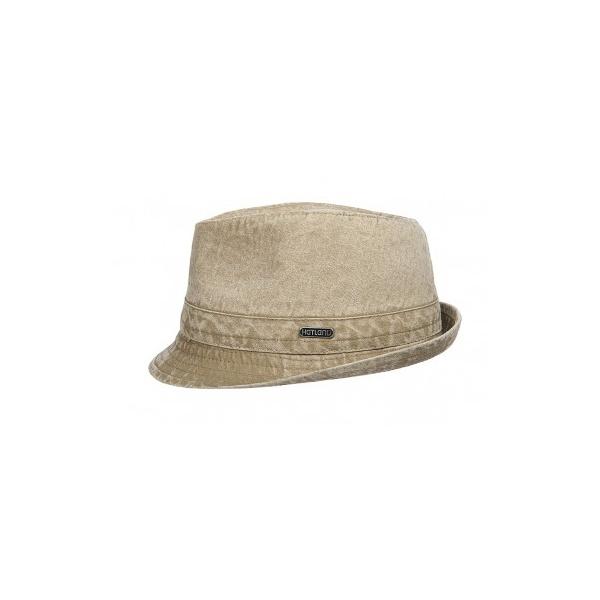 Chapeau Trilby Durango Coton Délavé beige - Hatland