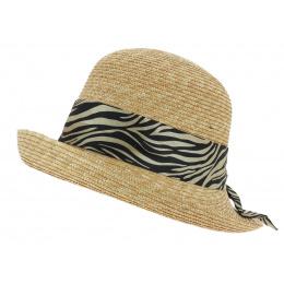Chapeau Cloche Impala Paille Naturel - Fléchet