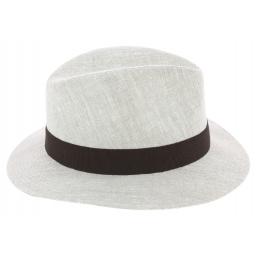 Traveller Hat Murano Washed Natural Linen - Fleche