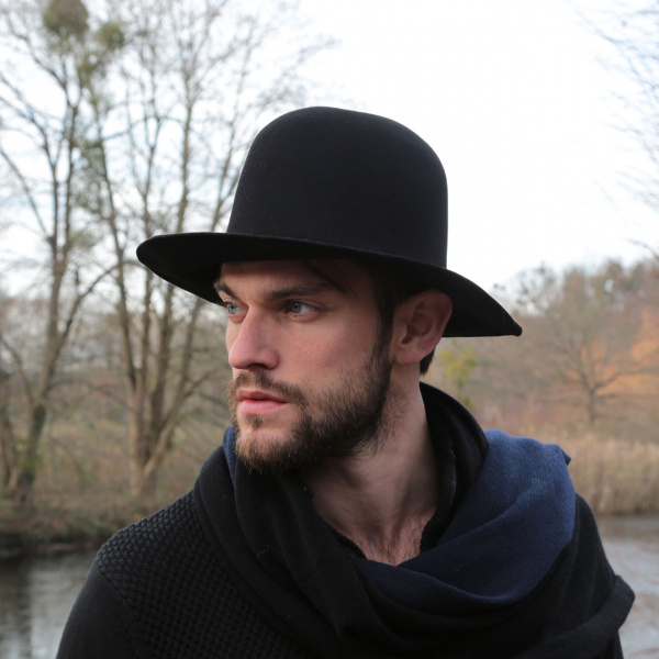 Chapeau Formable Golden Fleece Feutre Laine Noir - Traclet