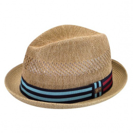 Chapeau Fedora Berle Marron Paille - Bailey