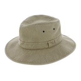 Mongo Cotton Beige Safari Hat - Crambes