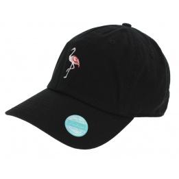 Casquette Baseball Flamingo Noir Coton - Kbethos