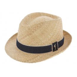 Beige Straw Trilby Hat - Fléchet