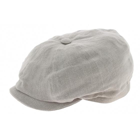 8 Ribs Desgrange Grey Linen Cap - Crambes