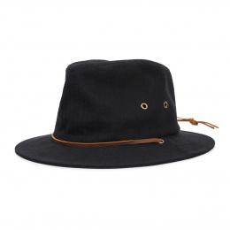 Chapeau Fedora Penn Coton Noir - Brixton