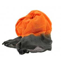 Chèche bi ton orange gris