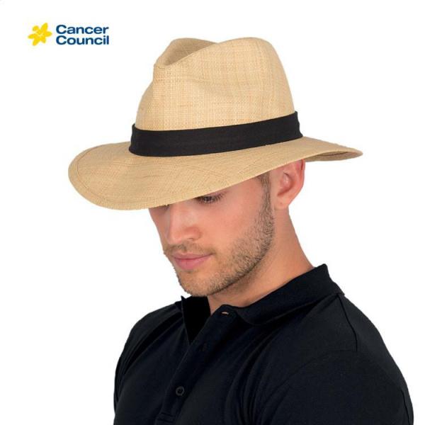 Chapeau Traveller Strax Raphia Naturel - Rigon Headwear