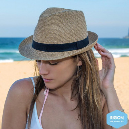 Chapeau Trilby Resort Polyester Beige - Rigon Headwear