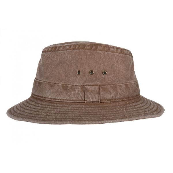 Chapeau Traveller marron Coton -