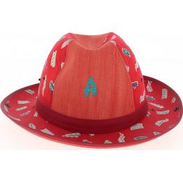 chapeau enfant crambes rouge