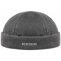 Bonnet Docker Quimper noir Coton - Stetson