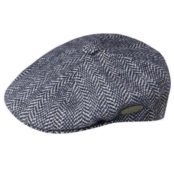 Casquette béret Wool Herringbone marine - Kangol