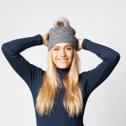 Bonnet à Pompon Claire Gris - Barts