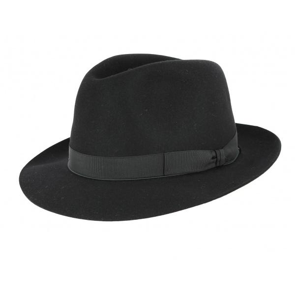 e2de94e6356 Borsalino hat men black  Borsalino hat men black ...