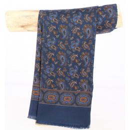 Foulard homme bleu marine  Soie- CITY SPORT