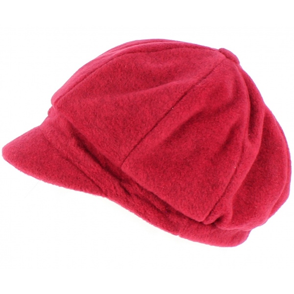 Casquette gavroche Abby polaire Rouge - TRACLET