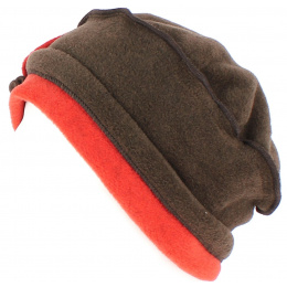 Toque Amalia polaire Marron/Orange - Traclet