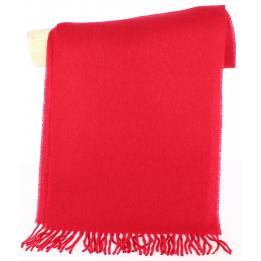 Écharpe Laine Vierge Manoe Rouge - Traclet