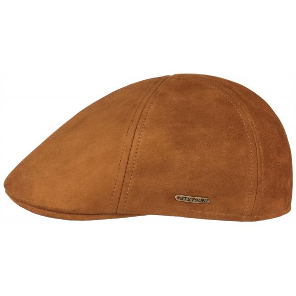 Cap Allen Leather Cognac- Stetson