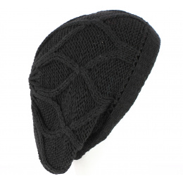 Roberti Black Knitted Beret - Traclet