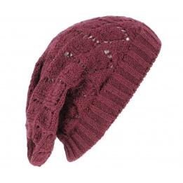 Bonnet Oversize Cheyenne Prune - Traclet