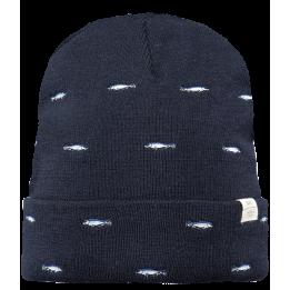 Bonnet Vinson Broderie Poisson Bleu Marine- Barts