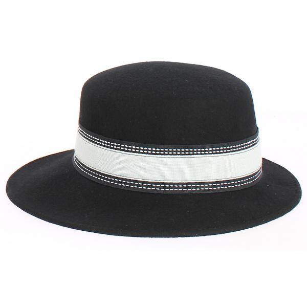 Giuditta - casquette en feutre Noir- Grambes