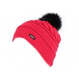 Bonnet Aylin à Pompon  Rouge - Eisbär