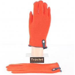 Gants Tactiles Séville Laine & cachemire Orange - Traclet