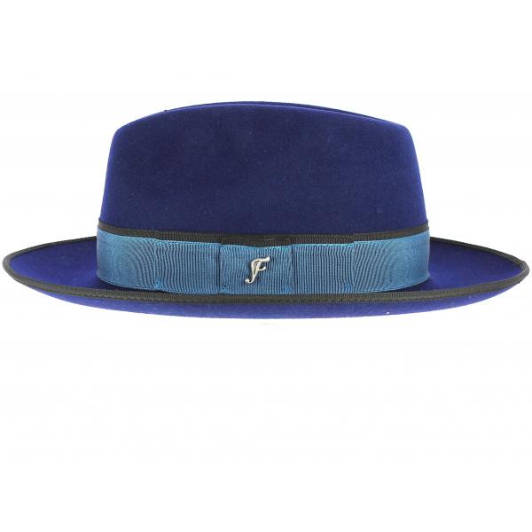 Chapeau Fédora Bleu Roi- Fléchet