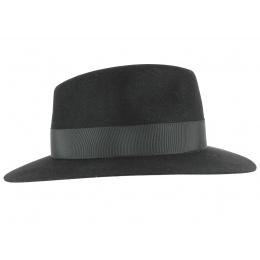 Chapeau Fédora Sylvestre Feutre poil Noir-Fléchet