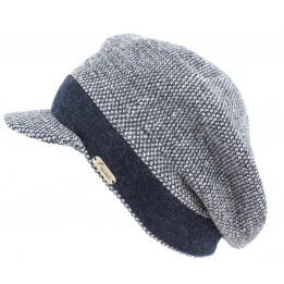 Bonnet casquette Laine Gregorio Marine - Fléchet