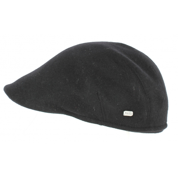 Black Polo cap with ear cover - Crambes