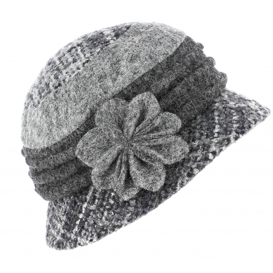 Lucie Cloche Hat Grey Wool - Traclet