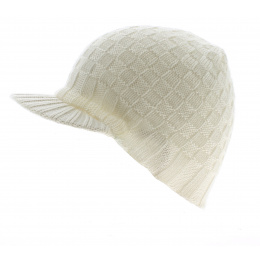Bonnet Casquette Walker Checks Blanc-