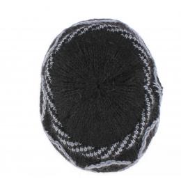 Beret / Bonnet Tricot Angora Lecce Noir - Traclet