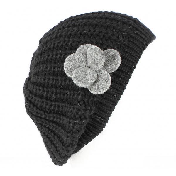 Bonnet Florinda Laine & Alpaga Noir - Traclet