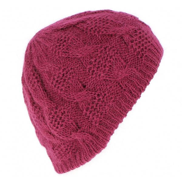 Bonnet Angora Apollonia Prune - Traclet