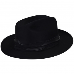 Boss Fedora Hat Black- Bailey