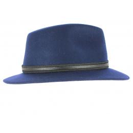 Chapeau Traveller Alexia Feutre Laine Bleu - Barts