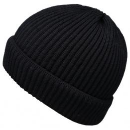 Bonnet en Tricot Ebern Noir- Traclet