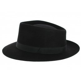 Chapeau Fedora Jacson Noir - Crambes